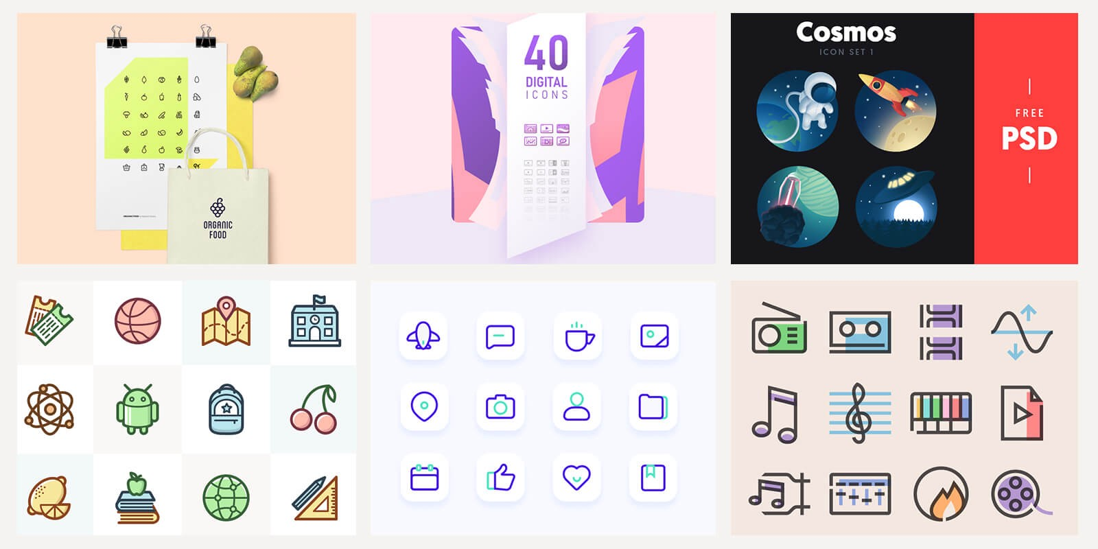 Useful Sets of Free Icons That Speed Up Your Creative Process