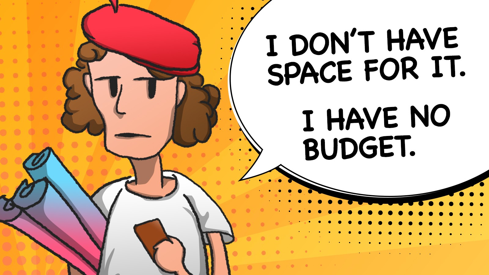I DO'NT HAVE SPACE FOR IT. I HAVE NO BUDGET.
