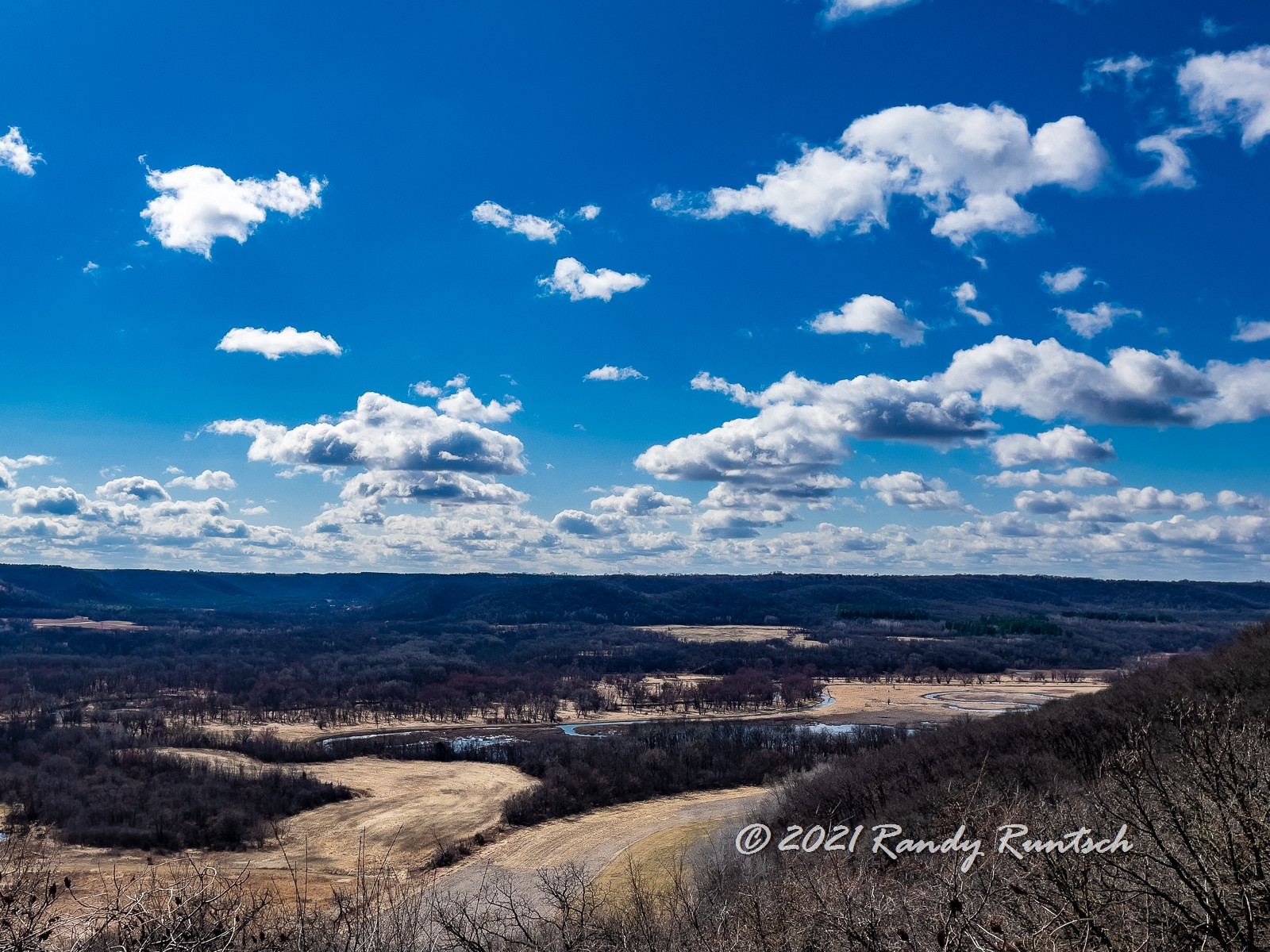 View of the Whitewater River Valley from an overlook near Weaver, Minnesota.