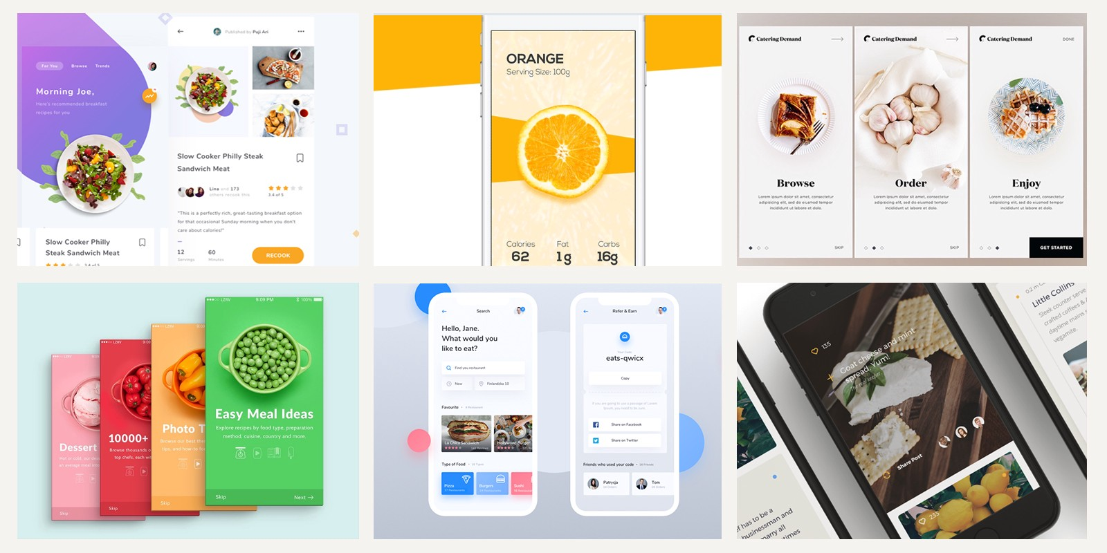 20 fresh food mobile app designs for your inspiration |