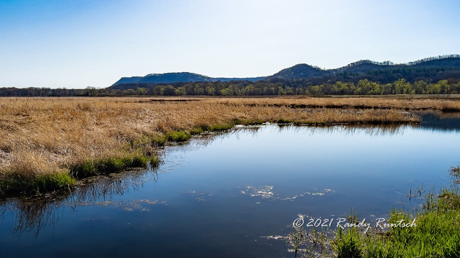 View of one of 15 pools in Whitewater Wildlife Management Area.