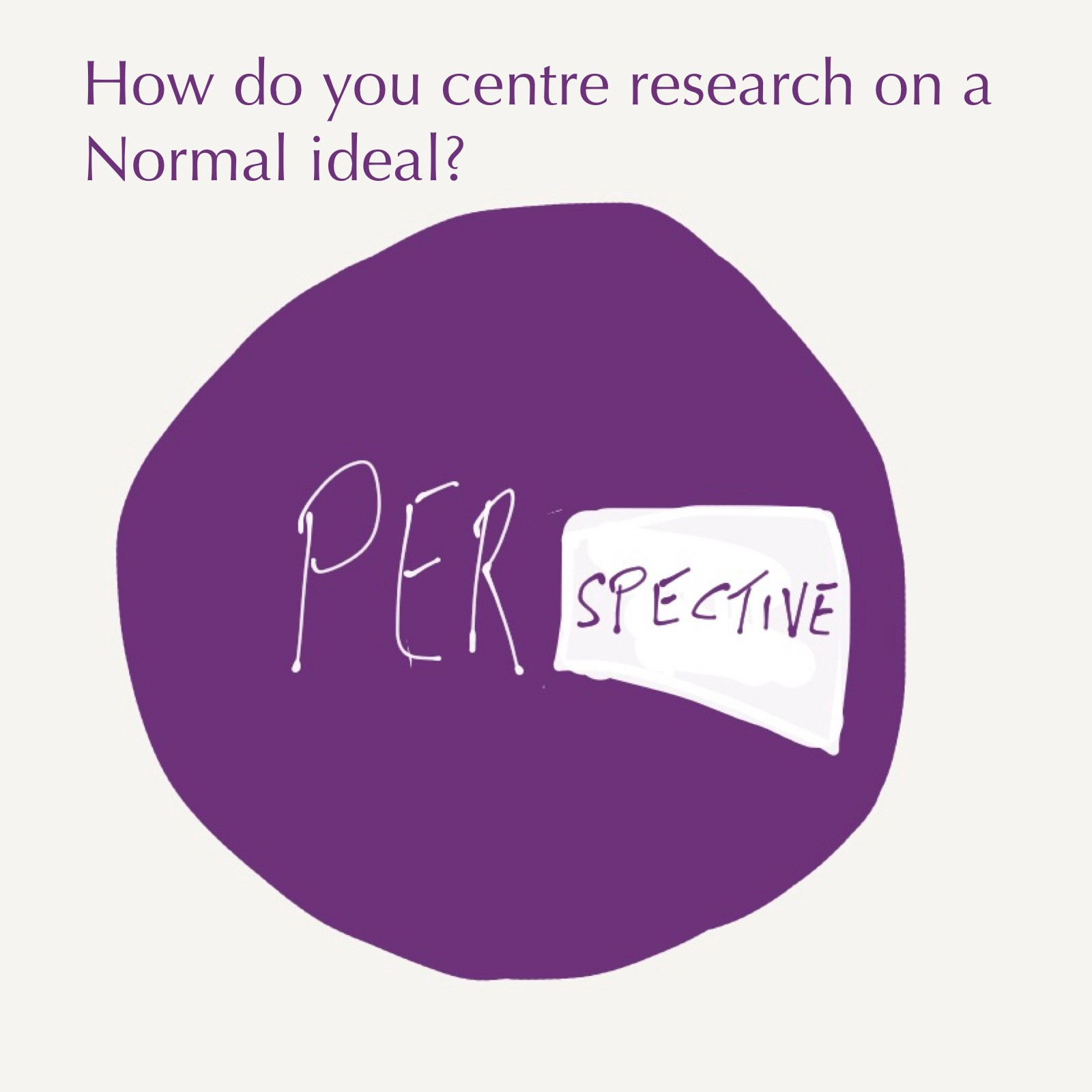 How do you centre research on a sense there is a Normal perspective?