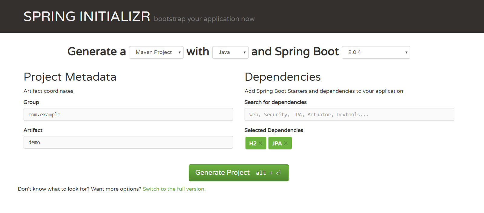 Embedding H2 Database with SpringBoot Application - Jeet