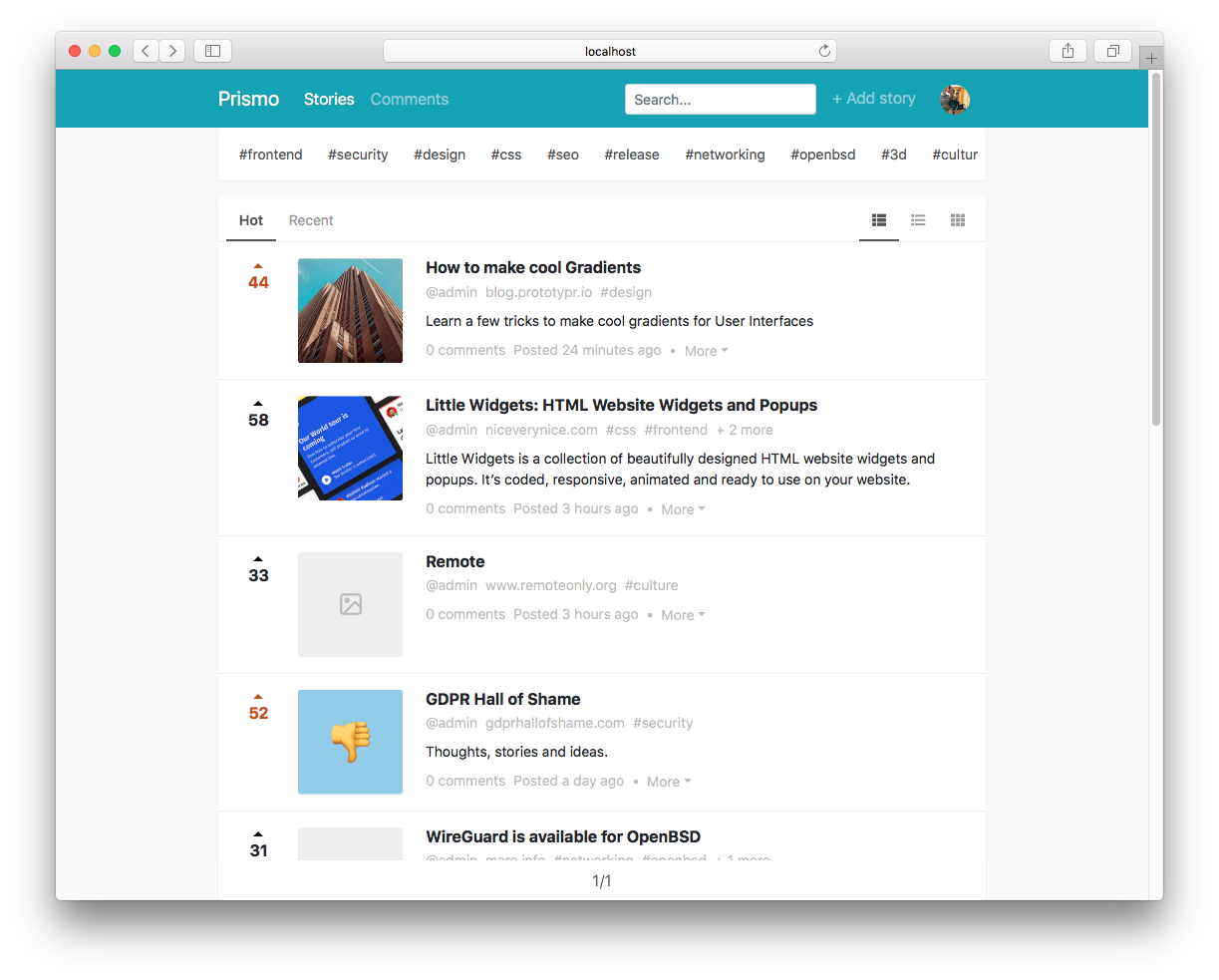 Prismo is a decentralized link-sharing app powered by