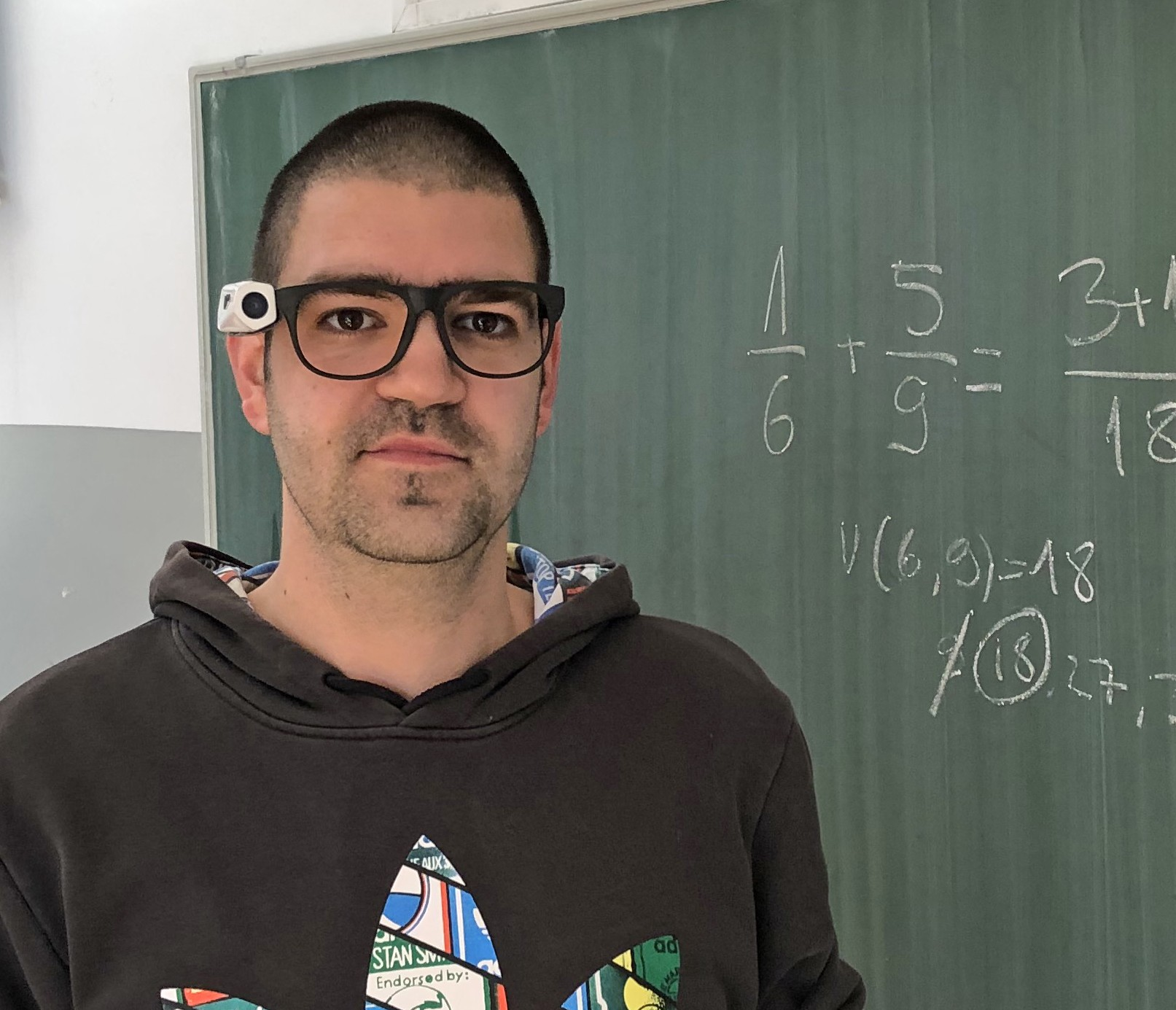 A Teacher Wearing Vyoocam