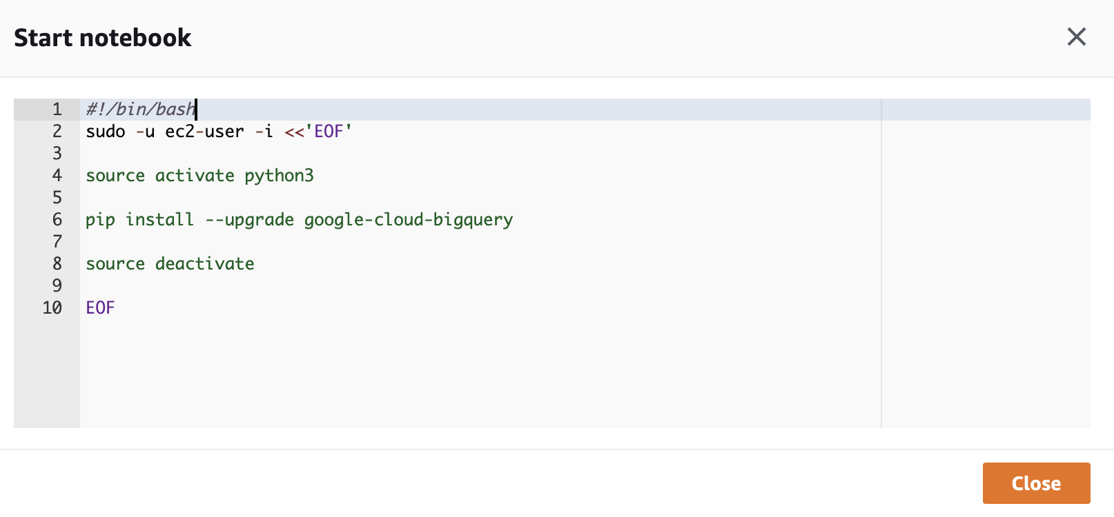 Connecting to Google BigQuery from AWS SageMaker - Or Hiltch