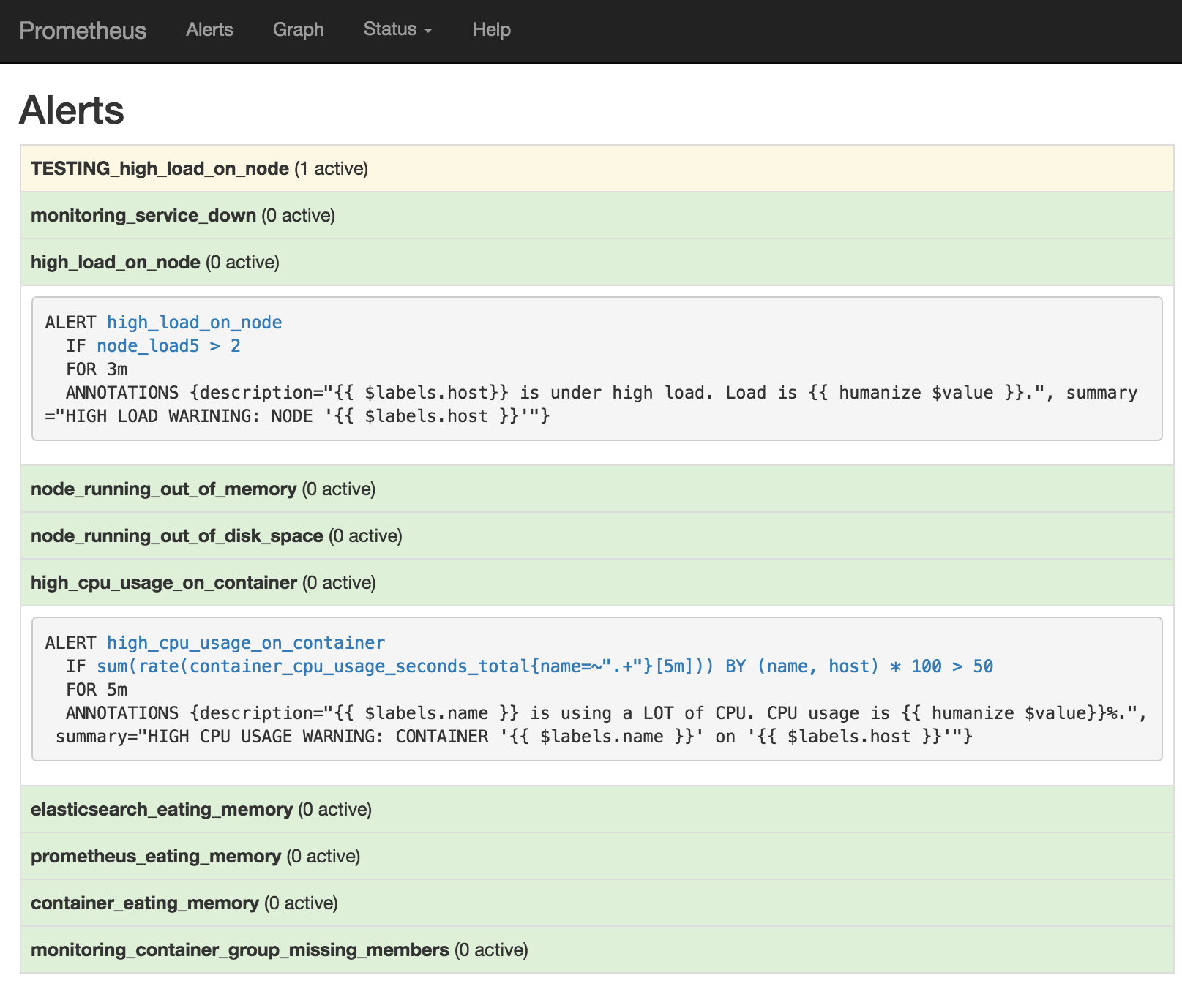 Docker Container and Host Monitoring, Logging (& Alerting