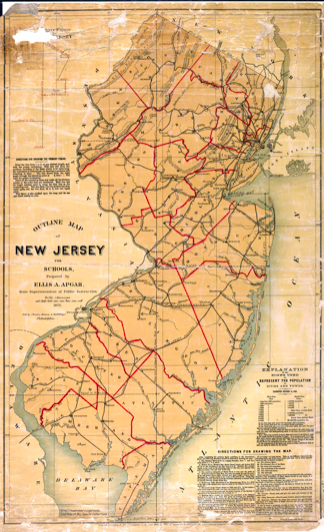 An antique map of New Jersey