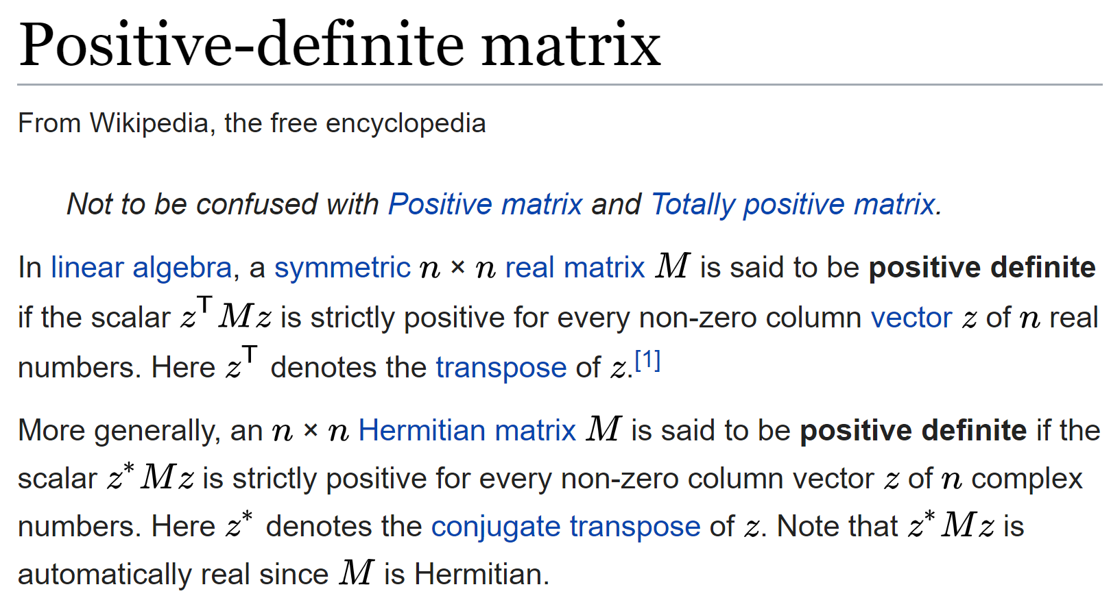 What is a Positive Definite Matrix? - Towards Data Science