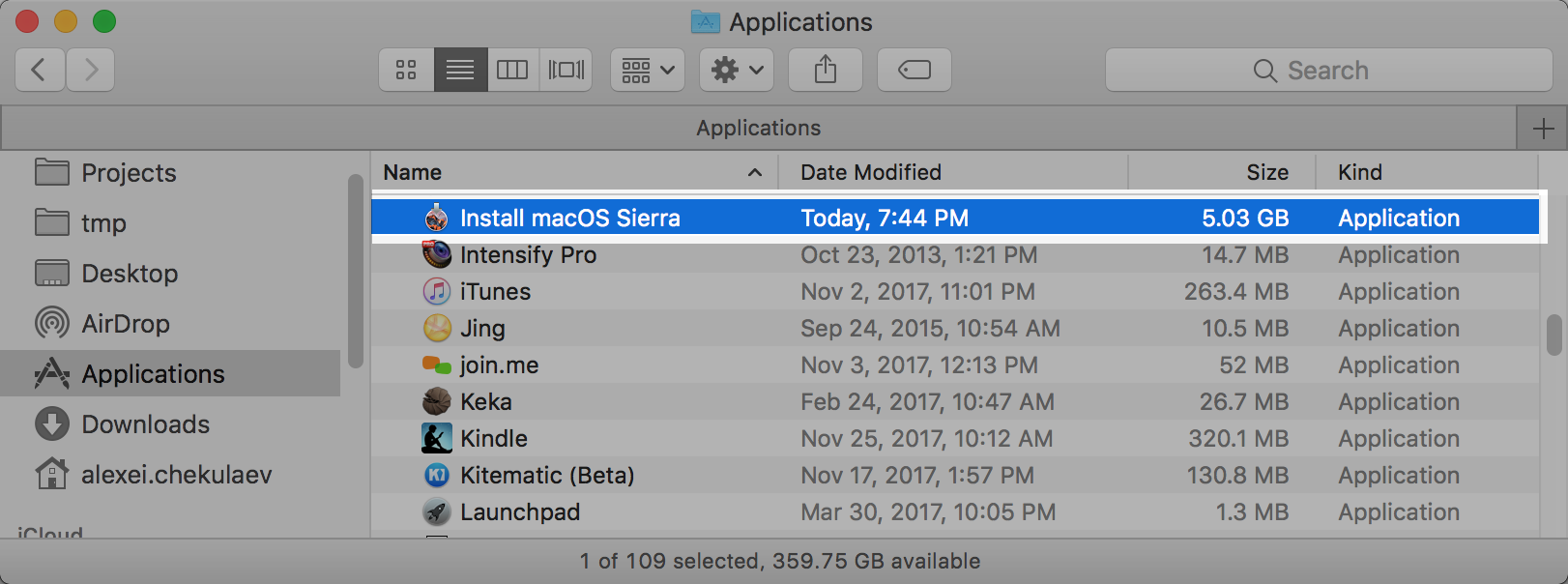 How to create a macOS virtual machine in VmWare Fusion on