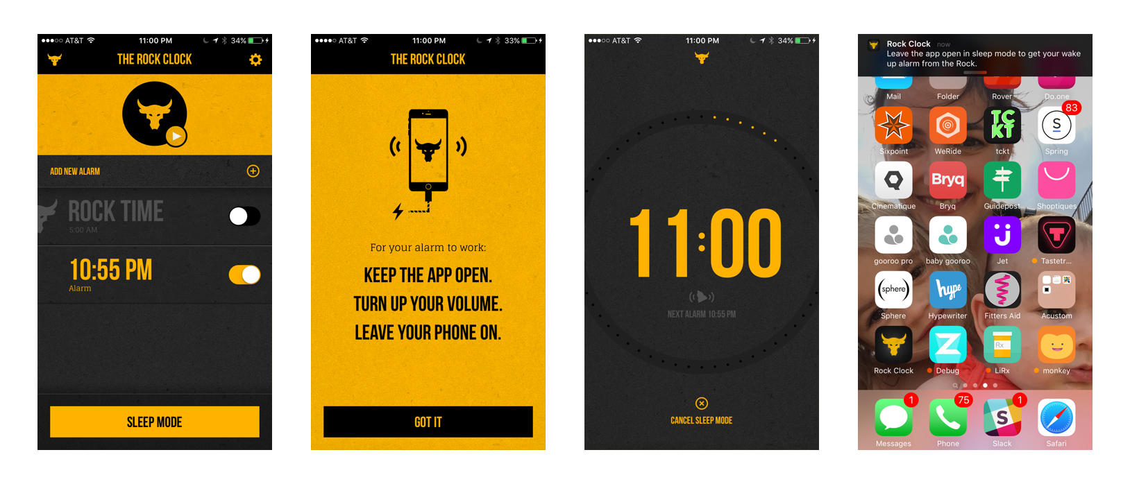 Why The Rock Clock™ iOS app must stay on all night…