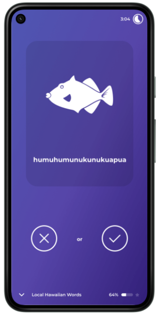 Phone with fish on the screen