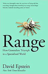 The front cover of the book titled 'Range', by David Epstein