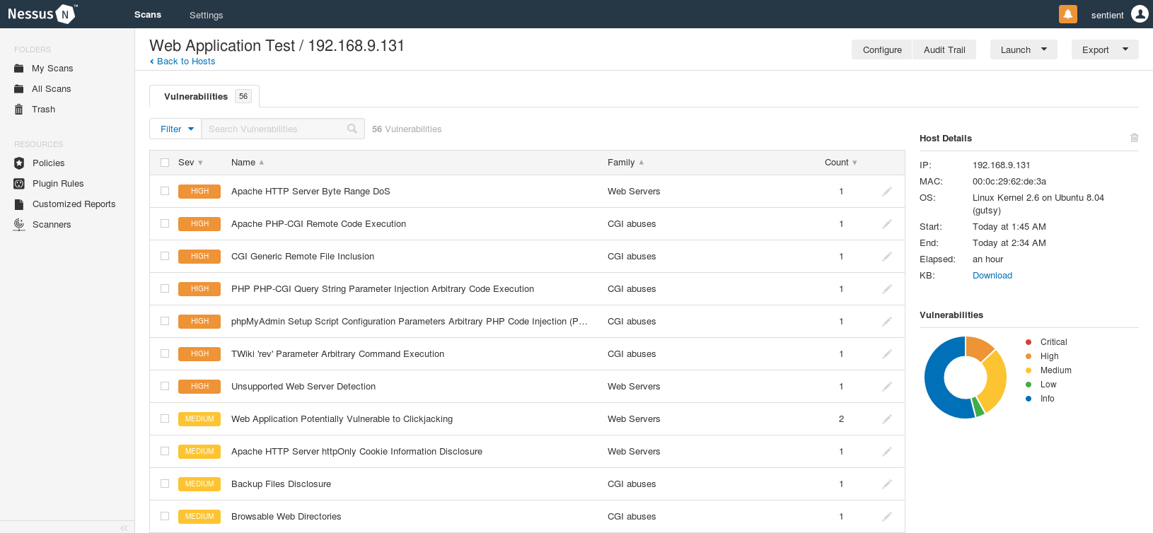 Vulnerability assessments with Nessus - bytes > bombs