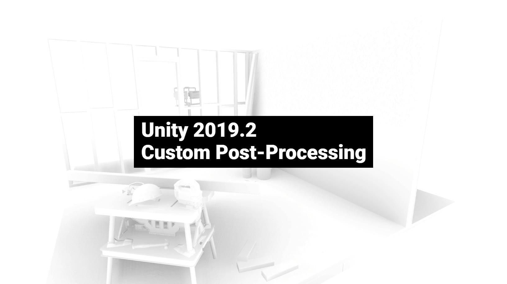 Custom post-processing using HDRP in Unity 2019 X - Another