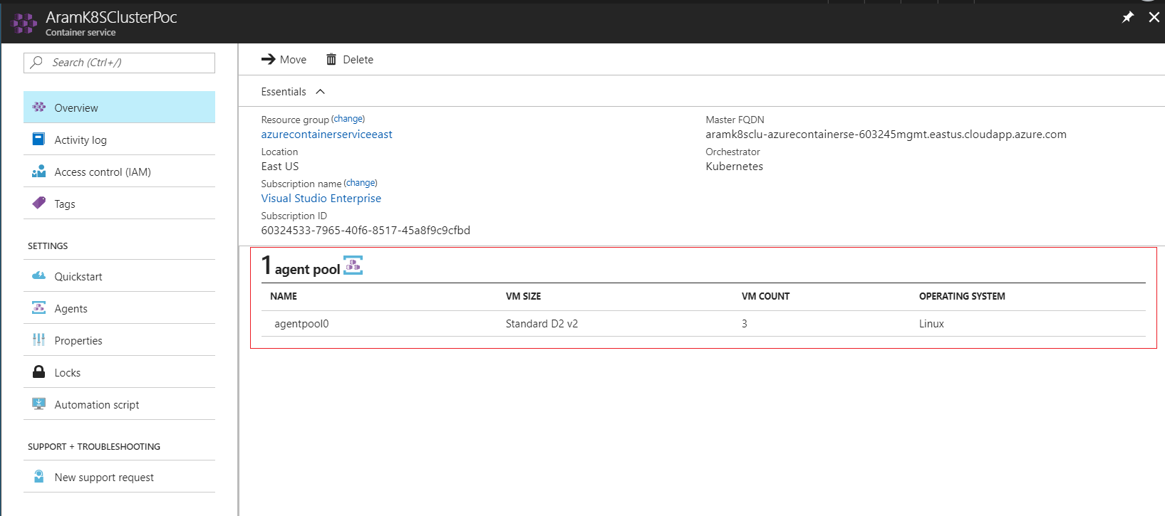 Run your application in Kubernetes Cluster in Azure
