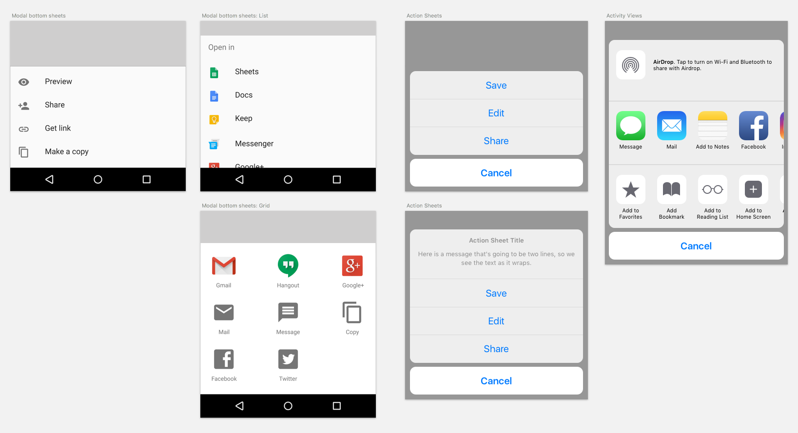 Android VS  iOS: Compare 20 UI Components & Patterns (Part 1)