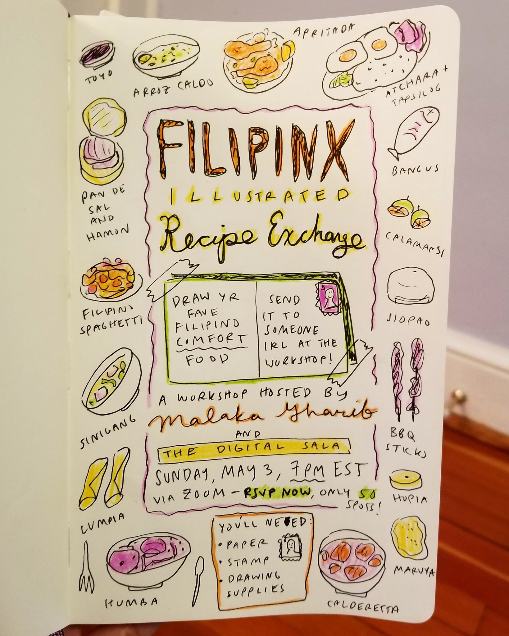 Filipinos Around The World Draw Their Pandemic Comfort Recipes By Malaka Gharib Medium