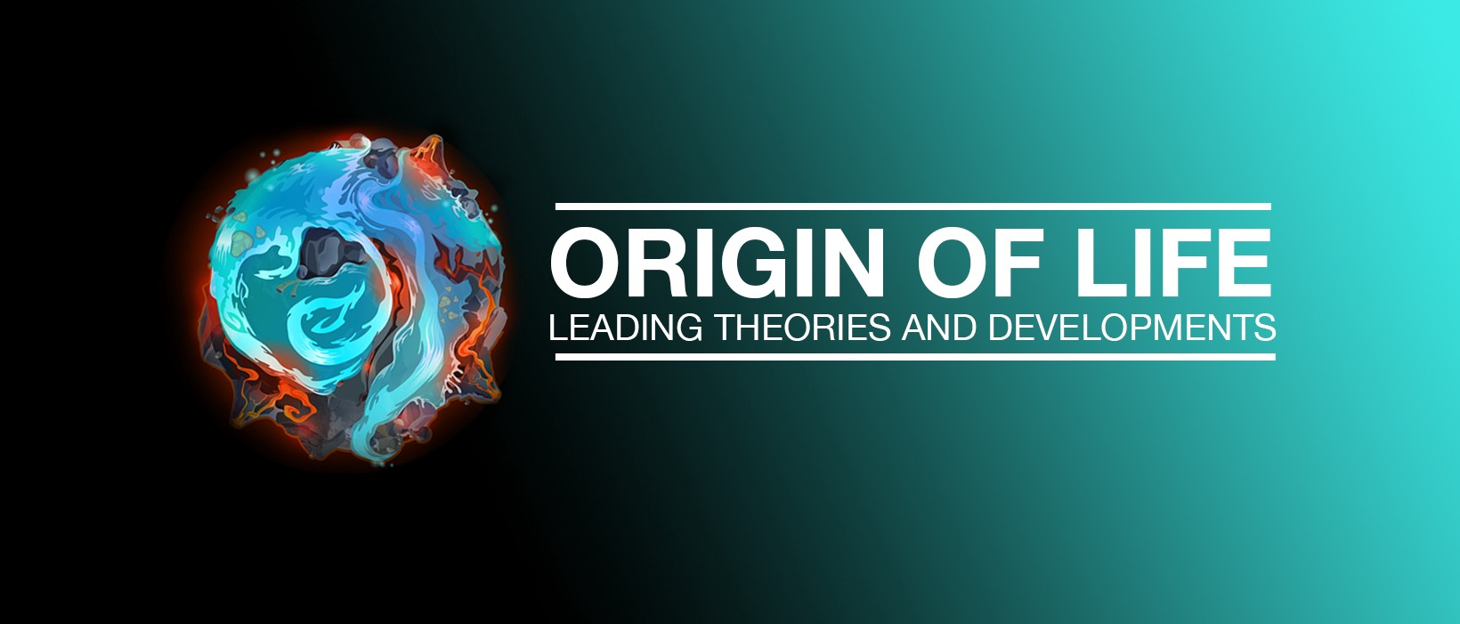 Cover photo for the article. Origin of life: leading theories and development. A summary of what I learned from SF Institute.