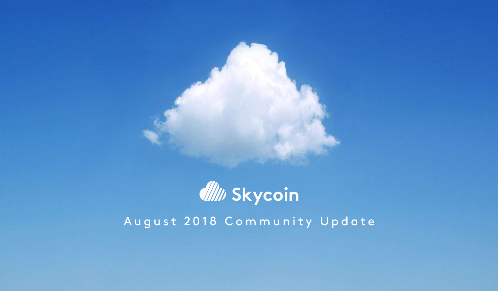 August 2018 Community Update - Skycoin - Medium