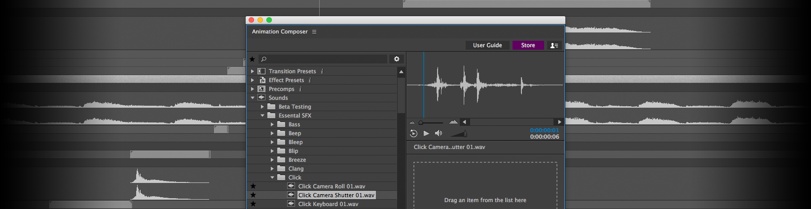 Teaser: Essential Sound Effects for Animation Composer