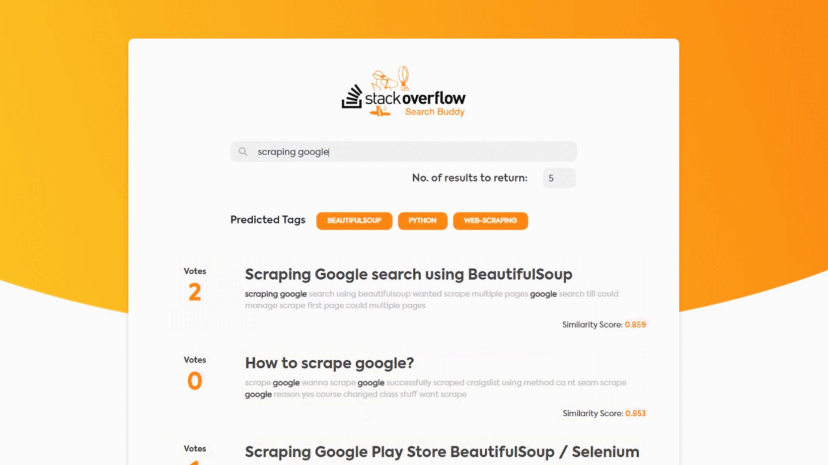 Improving the Stack Overflow search algorithm using Semantic