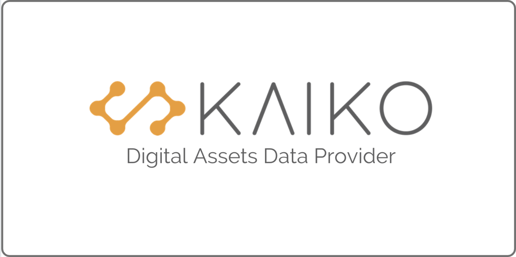 Announcing Our Seed Round - Kaiko Data