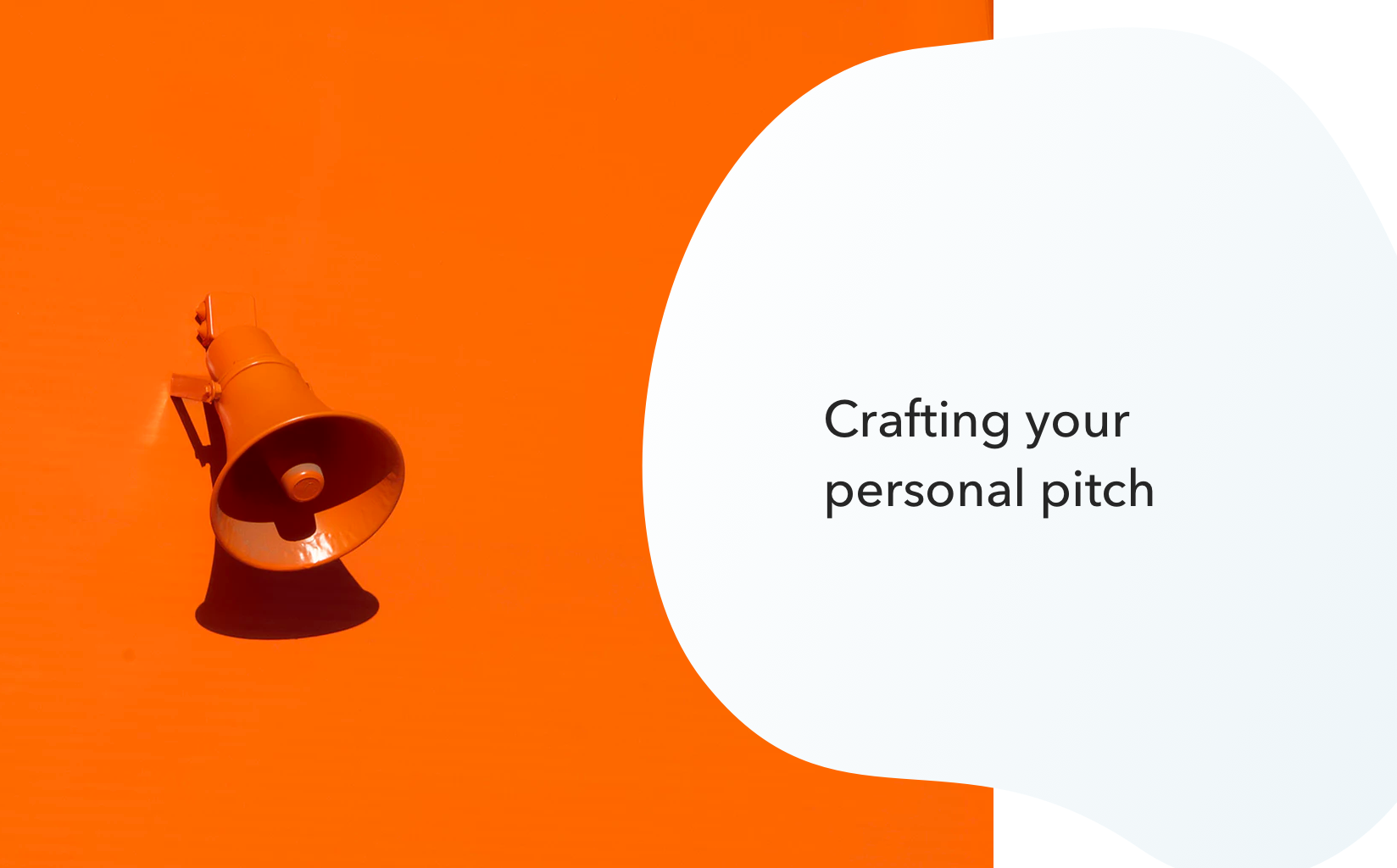 Crafting your personal pitch - Noteworthy - The Journal Blog