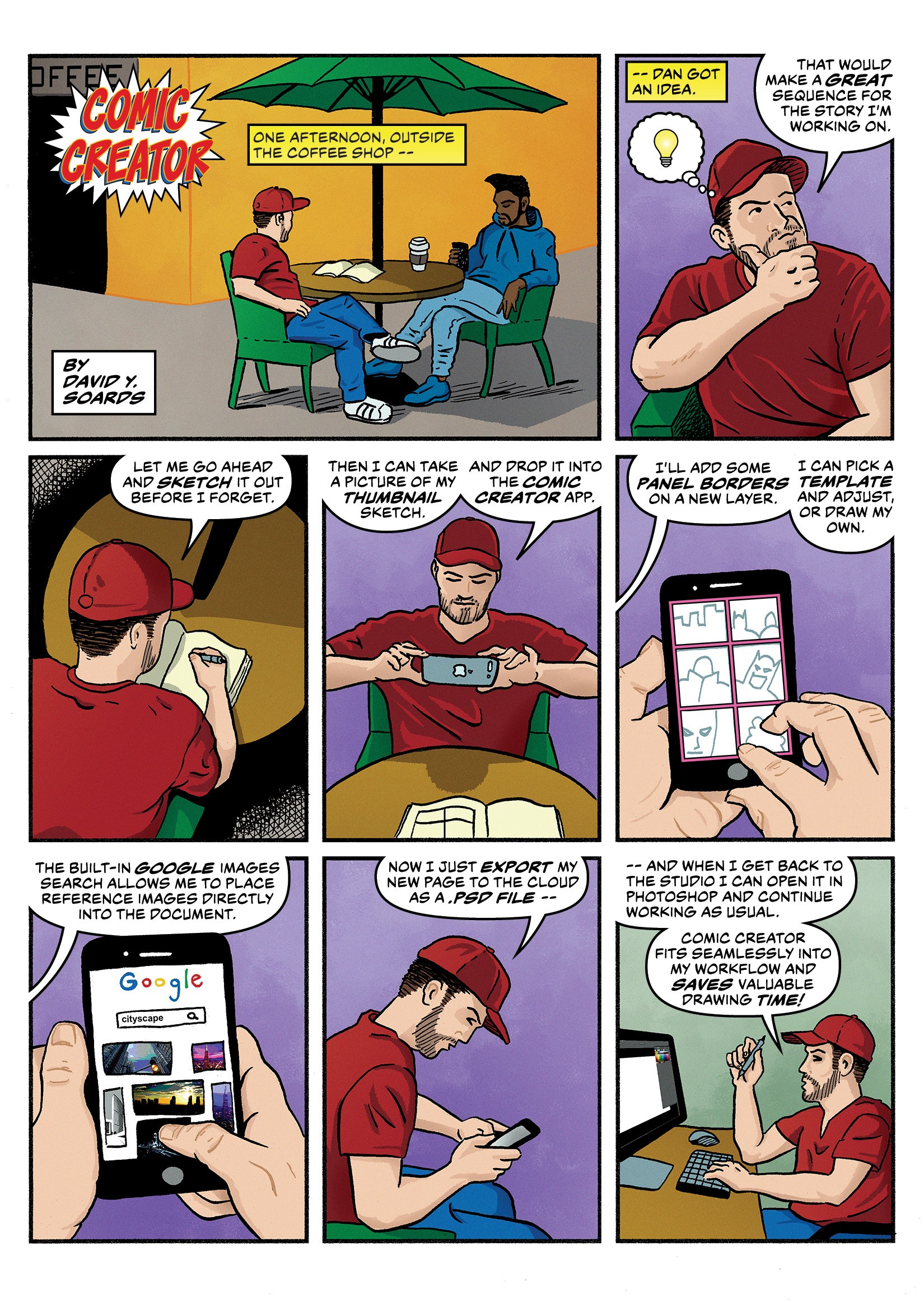 Designing the Comic Creator Mobile App | by David Y ...