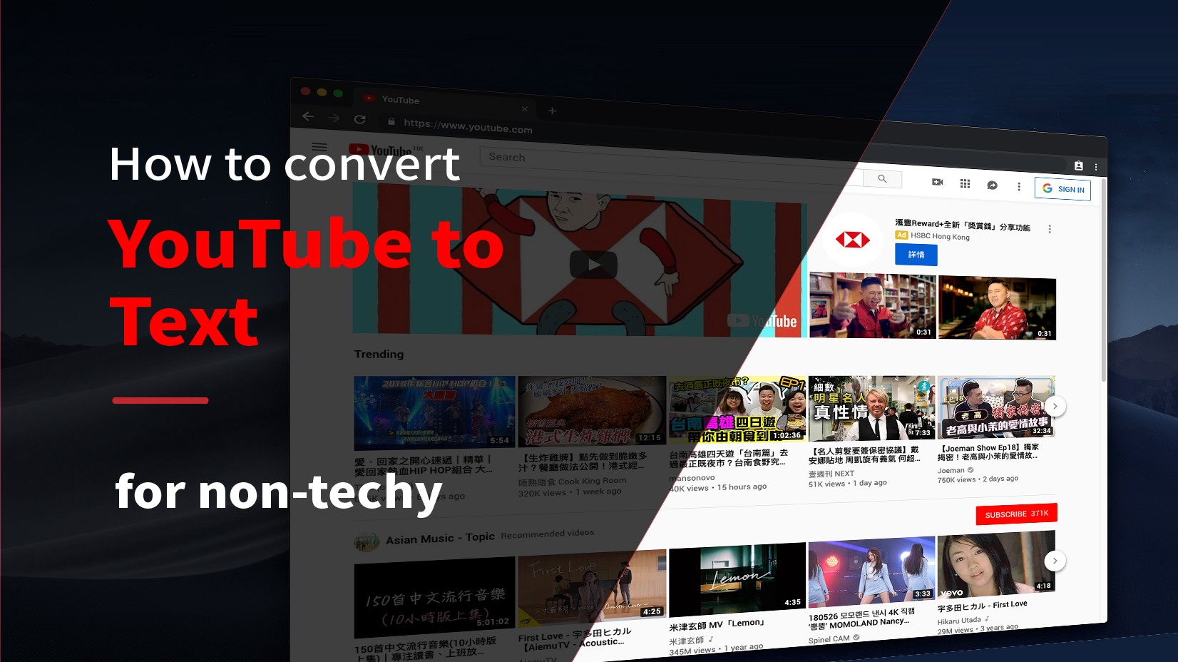 How To Convert Chinese & Cantonese Youtube Videos To Text