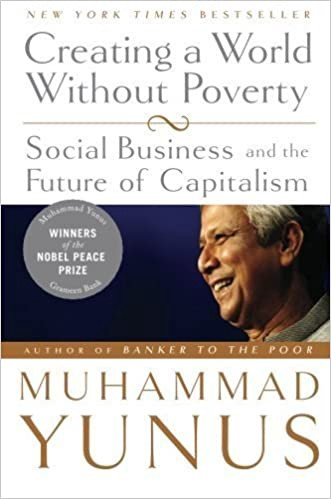 Cover of Prof Yunus's book, Creating a World without Poverty