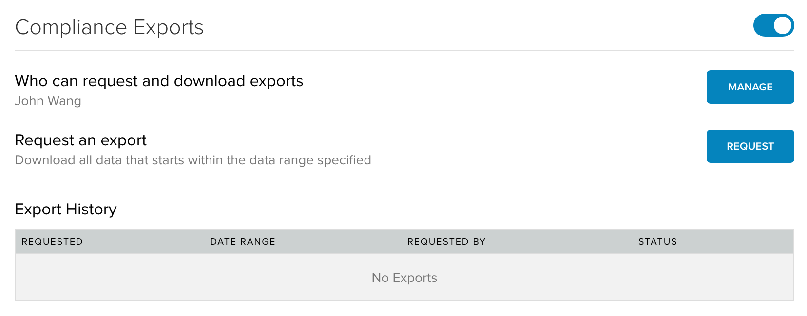 Glip Compliance Exports API for eDiscovery, GDPR and Analytics