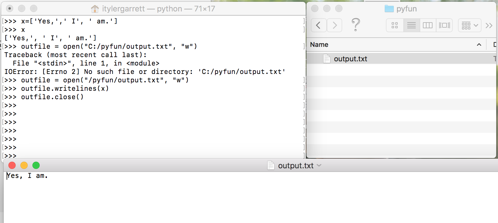 How to write to a text file in Python 2 7 — Windows and Mac