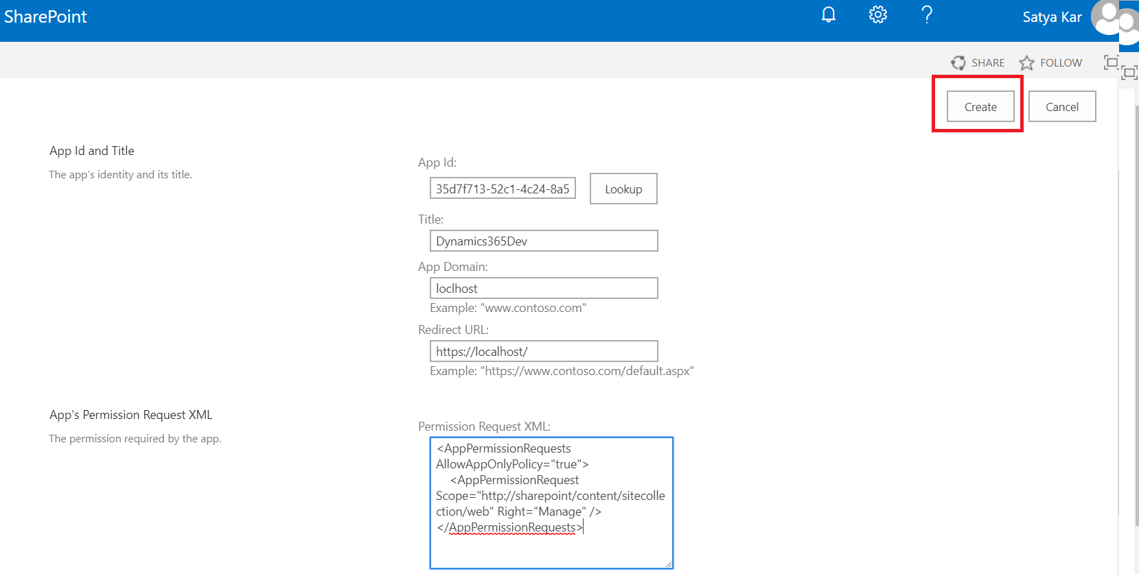 Create Folder in SharePoint from Dynamics 365 Online Plugin