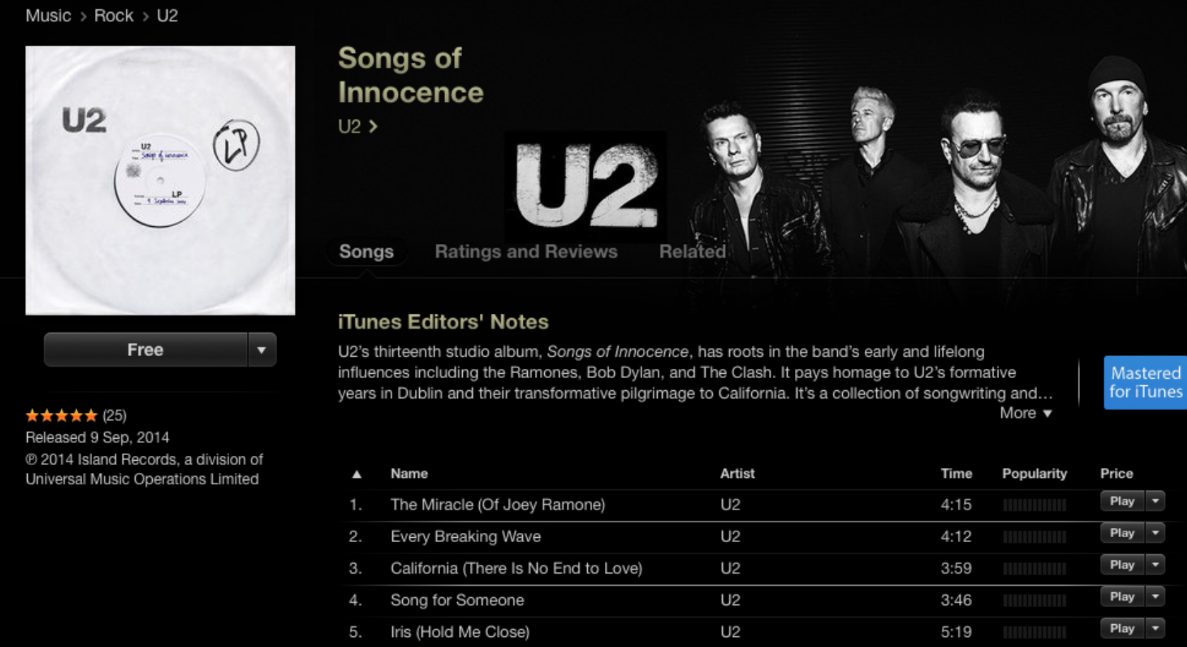 The automatically downloaded U2 album that no one asked for