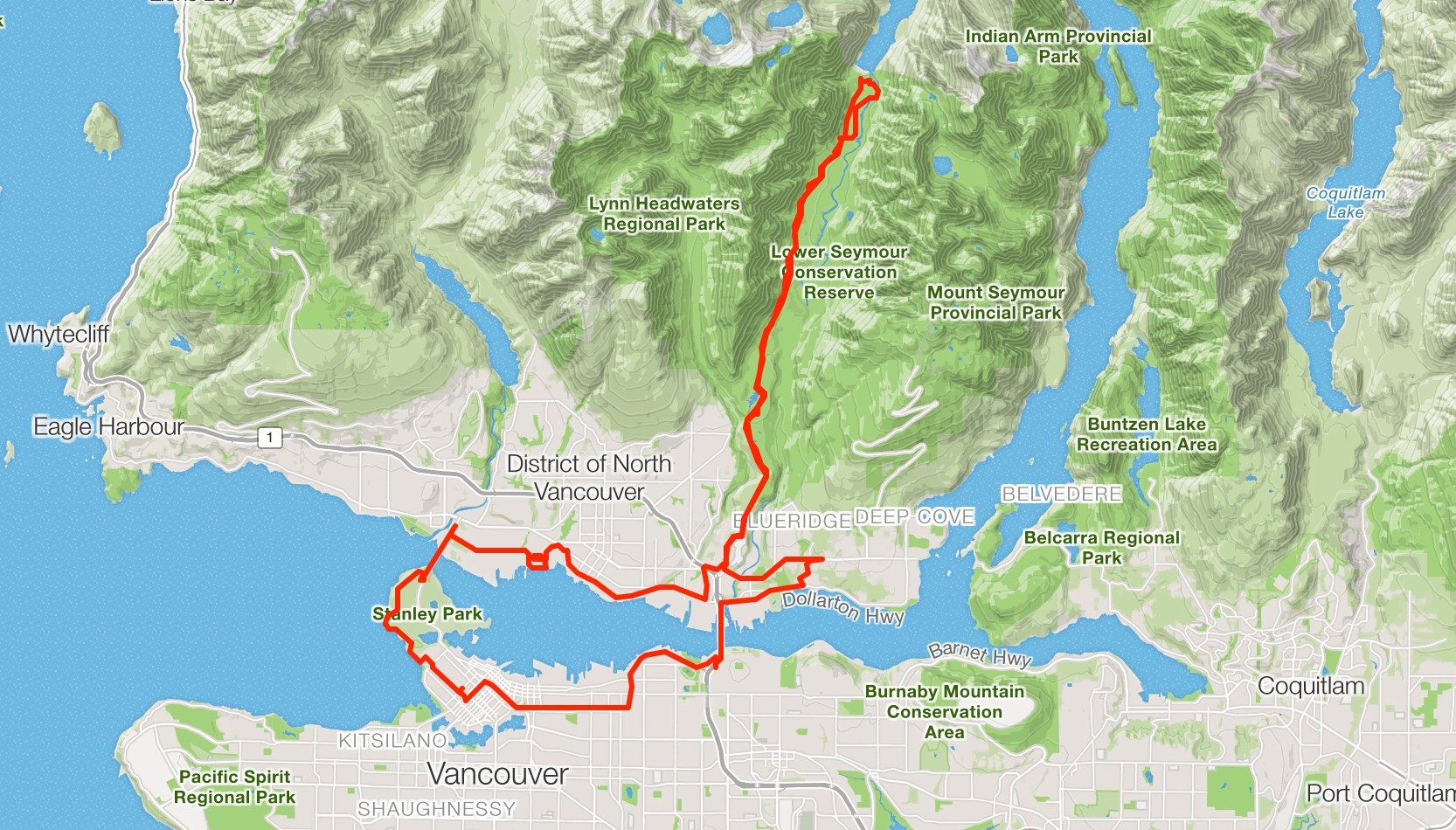 Strava maps for runners and cyclists - Points of interest