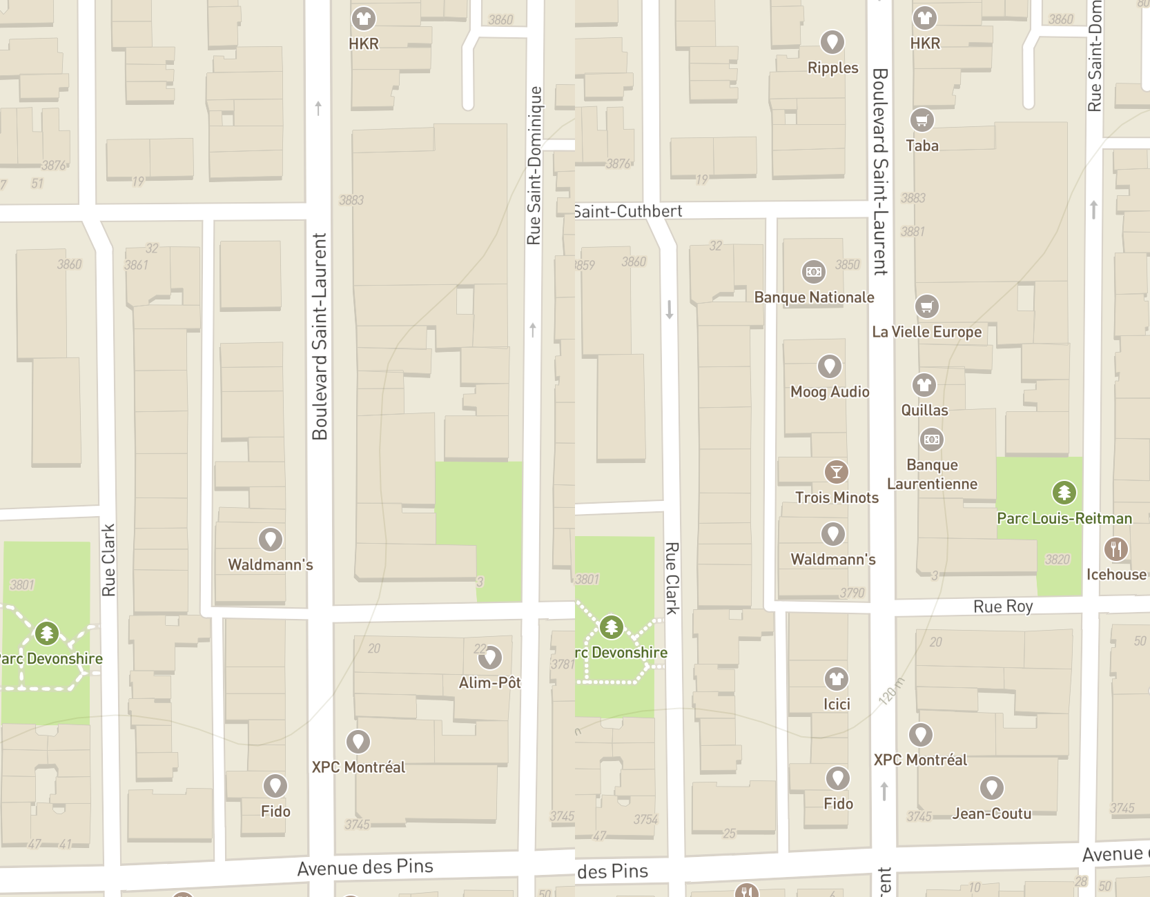 Better label placement for Mapbox Mobile - Points of interest