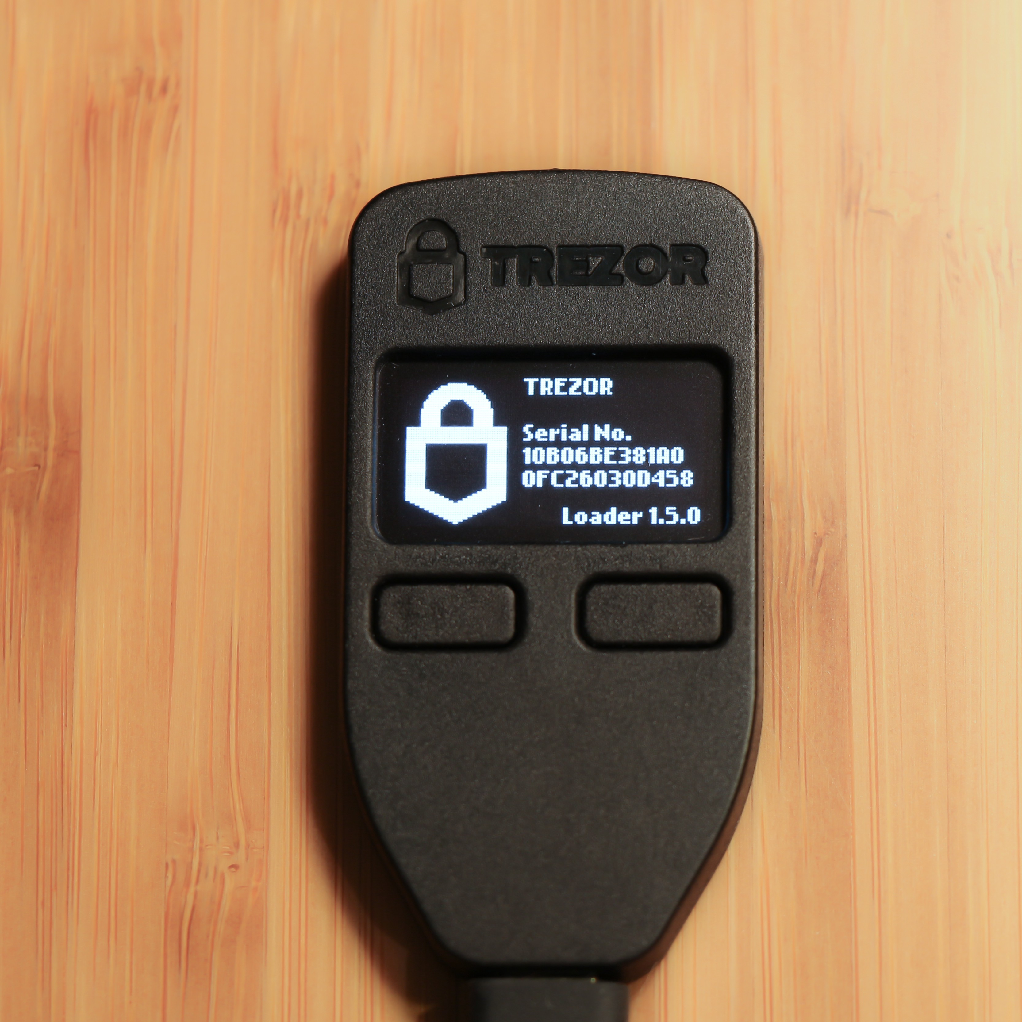 Trezor One in Bootloader Mode