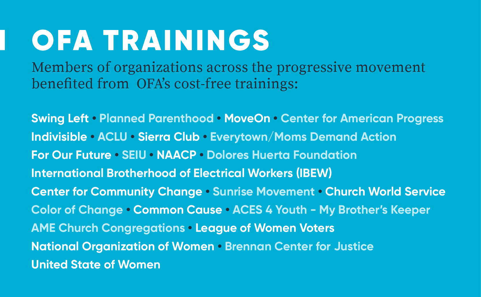 What Ofa Has Accomplished And The Fight Ahead By All On The Line All On The Line Medium