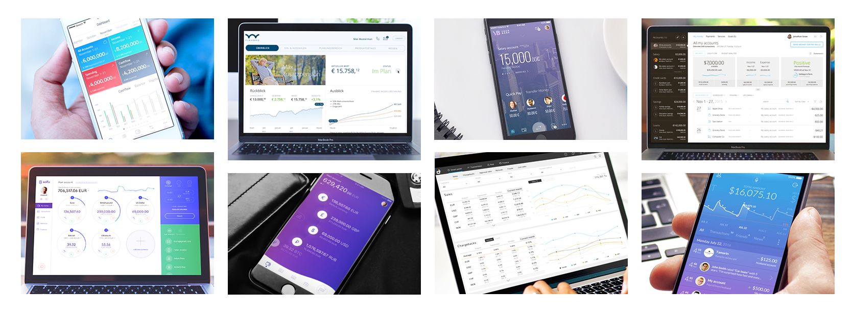 A Collection of 20 The Most Interesting Financial UI/UX Designs to