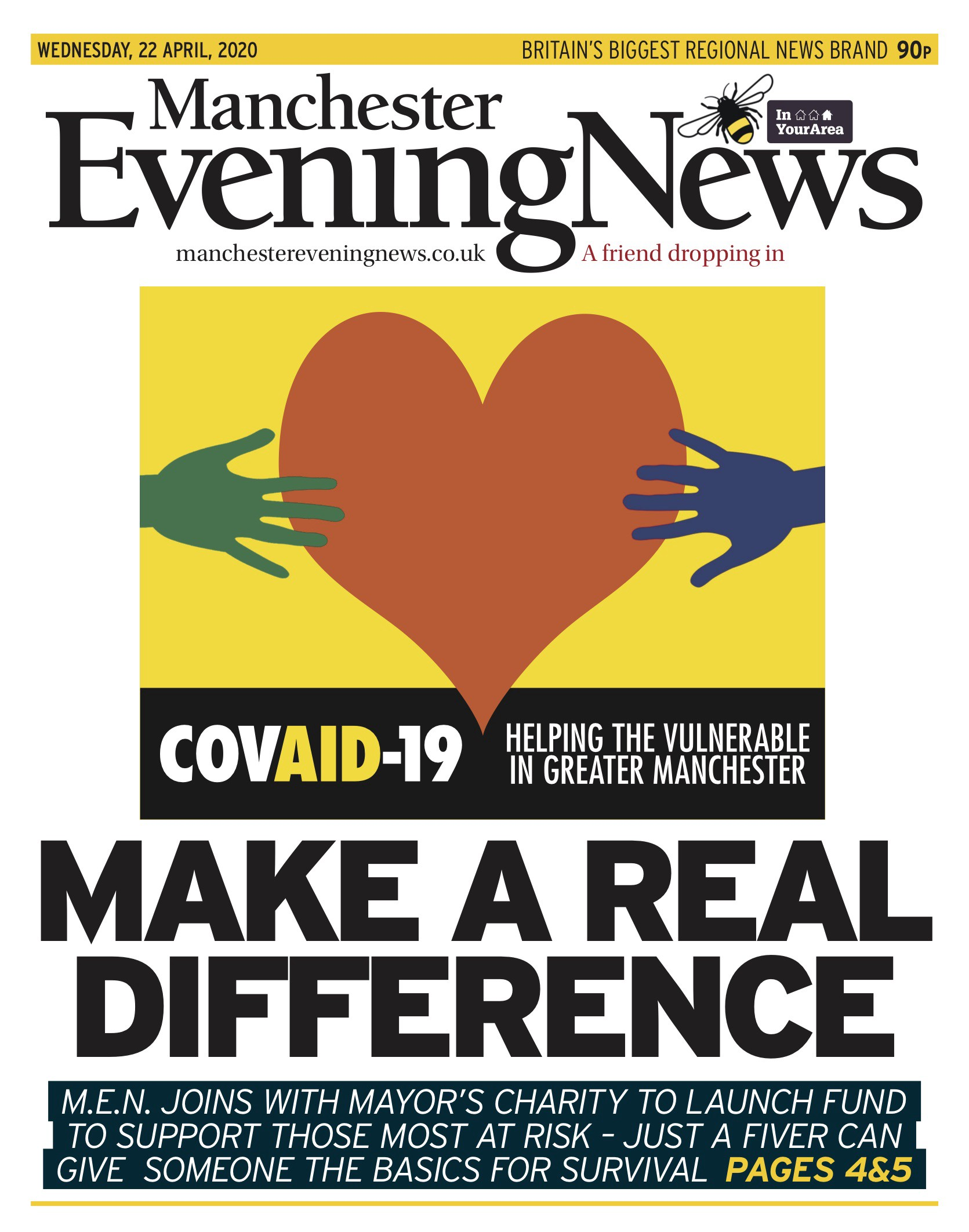 Manchester Evening News launches Covid-19 fund with mayor Andy Burnham | by  Behind Local News | Behind Local News UK