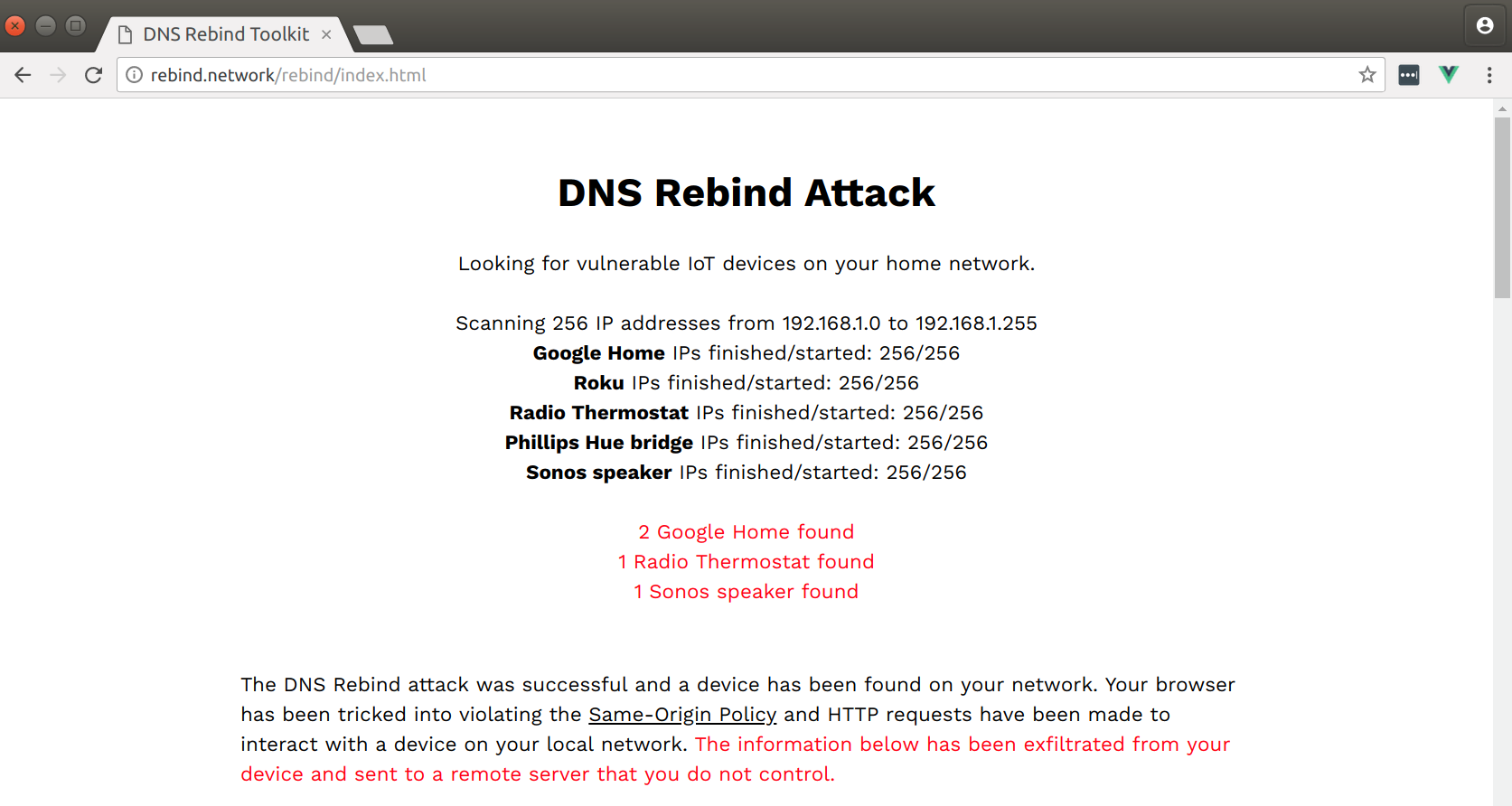 Attacking Private Networks from the Internet with DNS Rebinding