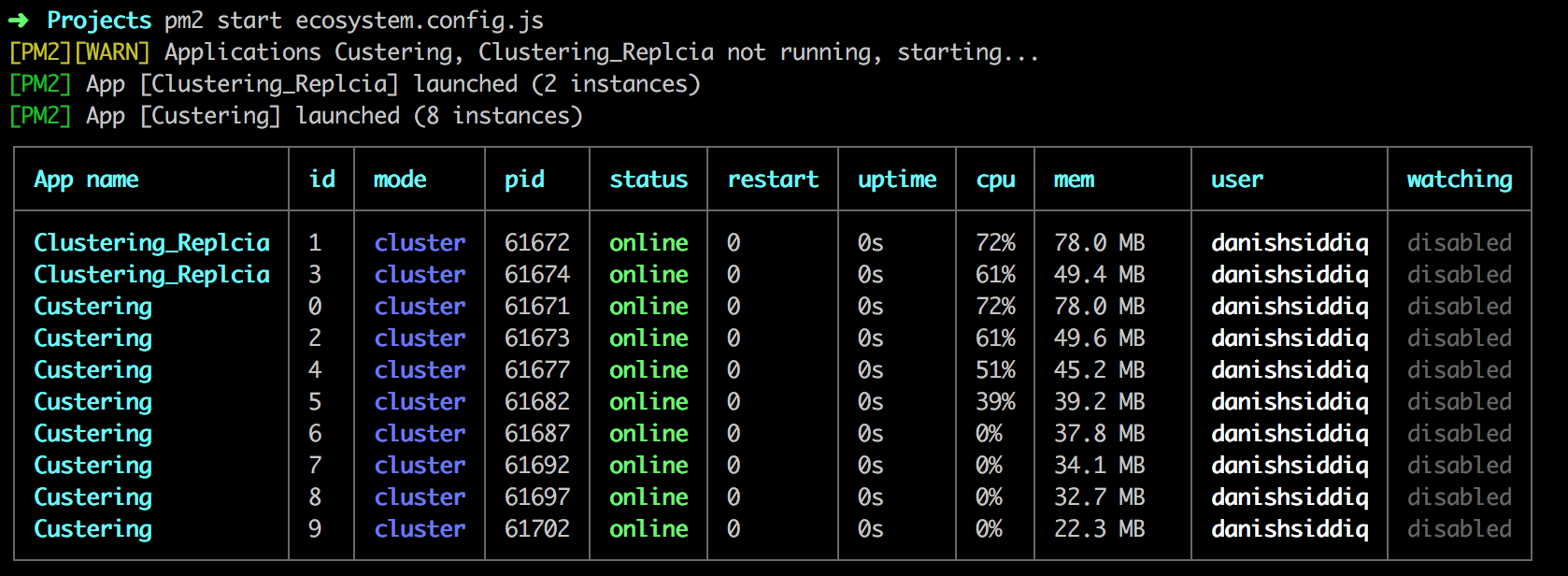PM2 Process Manager - Zero Downtime — Performance