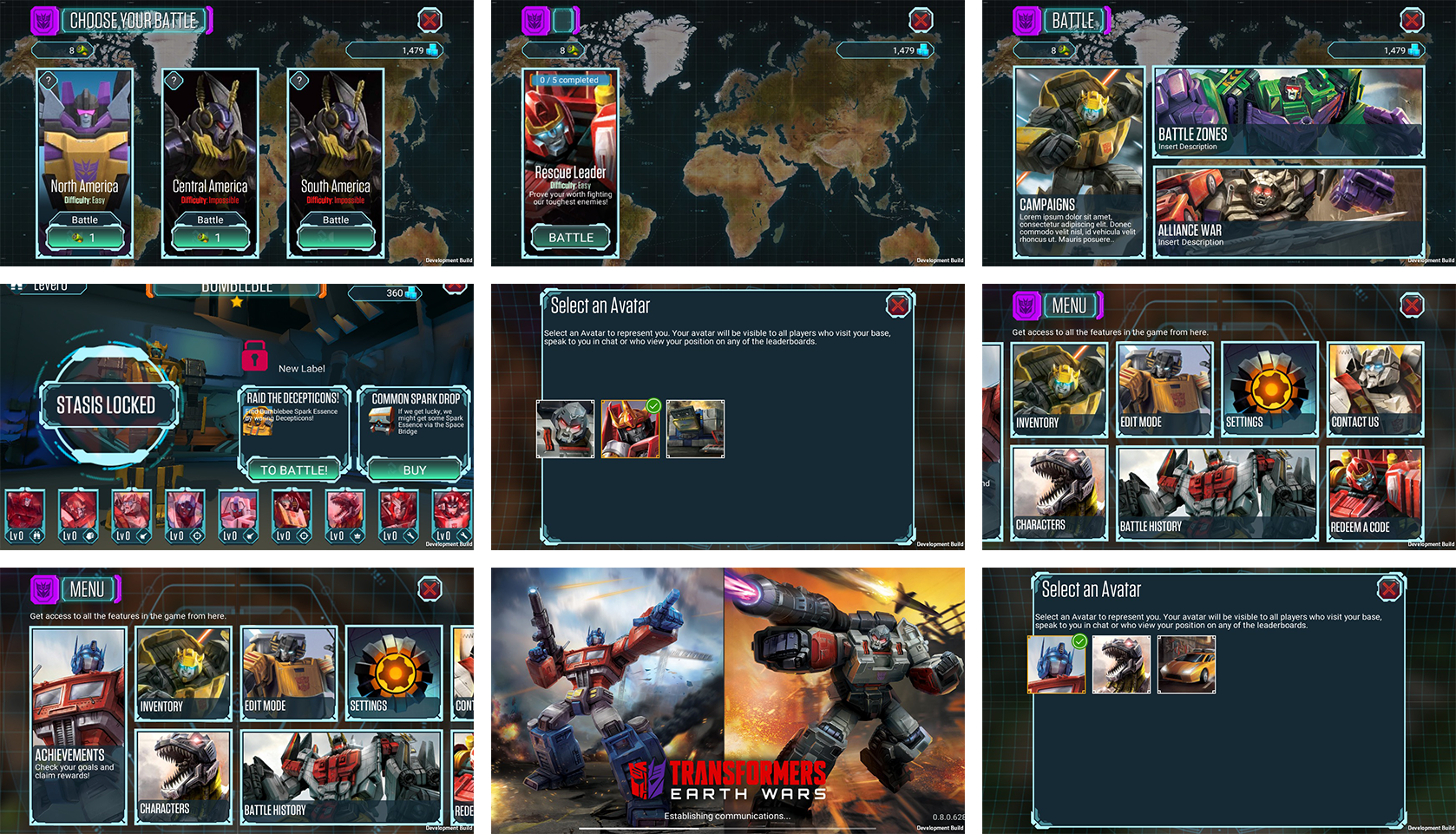Evolving the UI Design of Transformers: Earth Wars - The