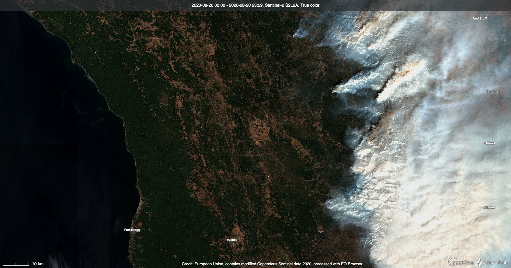 Wildfires in California, August 20, 2020