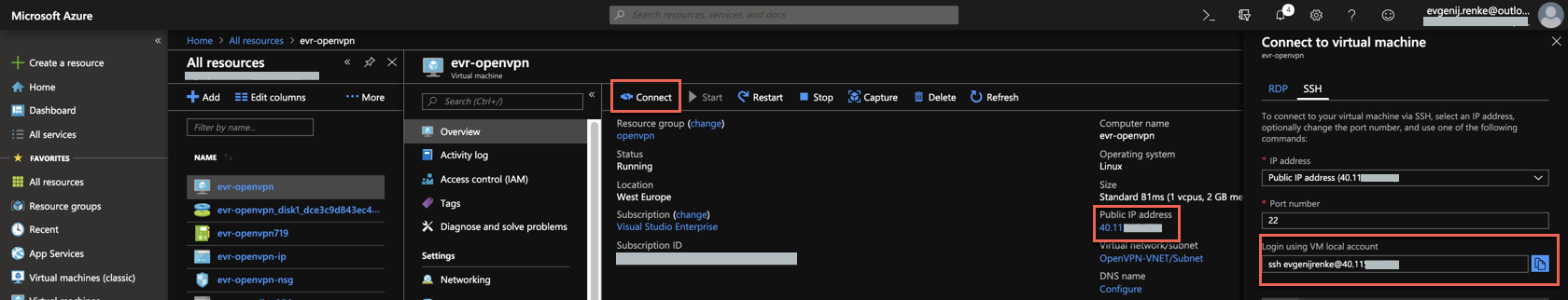 Configure OpenVPN Access Server on Azure - Evgenij Renke