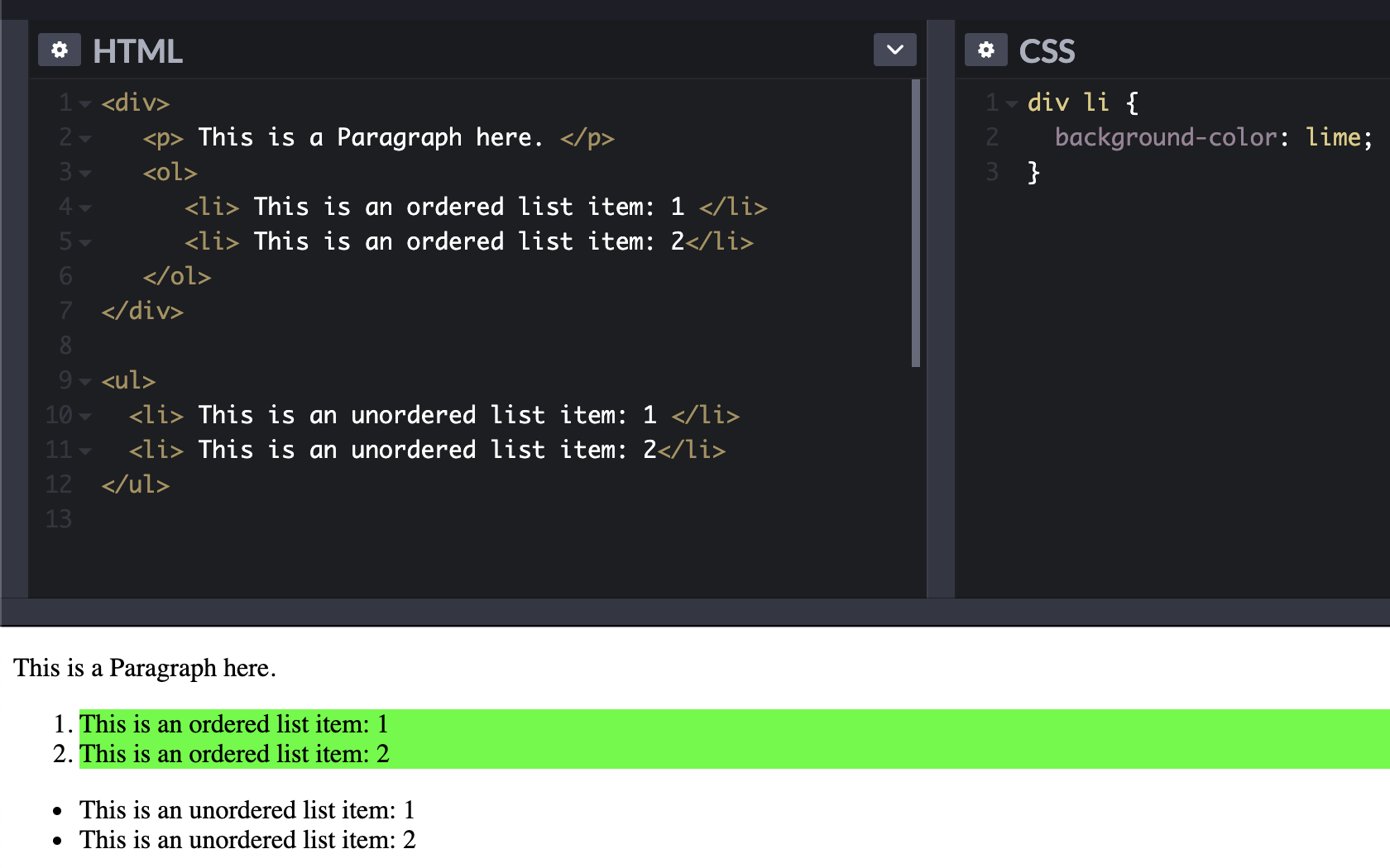 Descendant Selector- css tips and tricks 2020