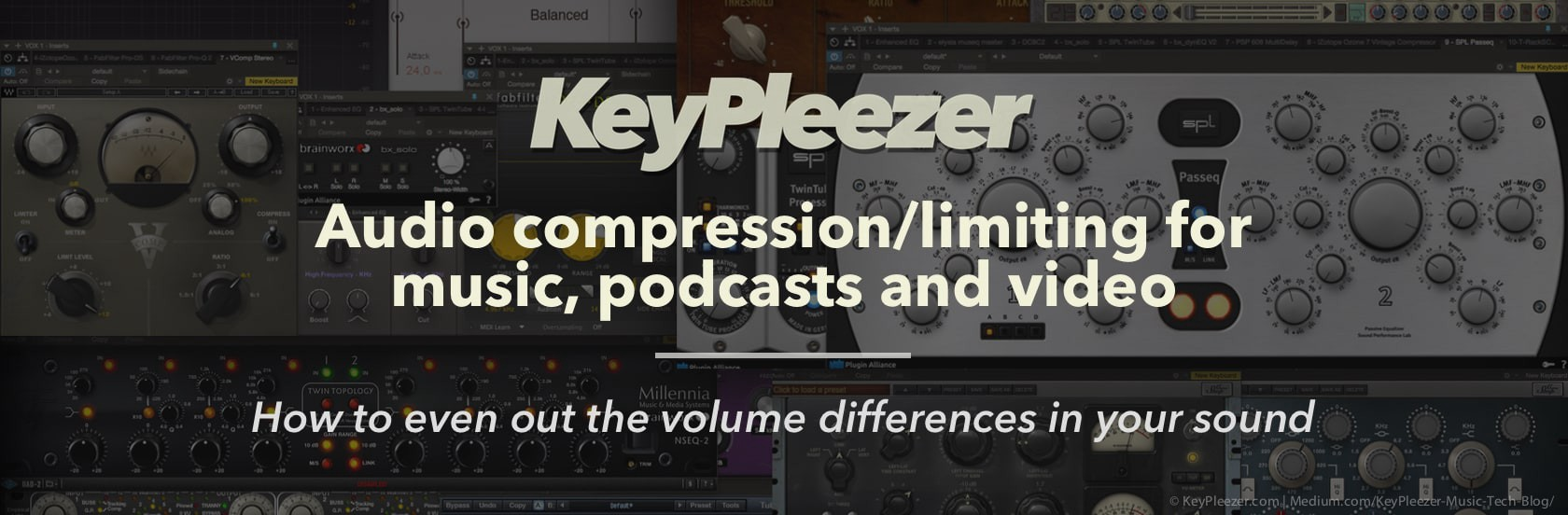How to use an audio compressor or limiter in music, podcasts