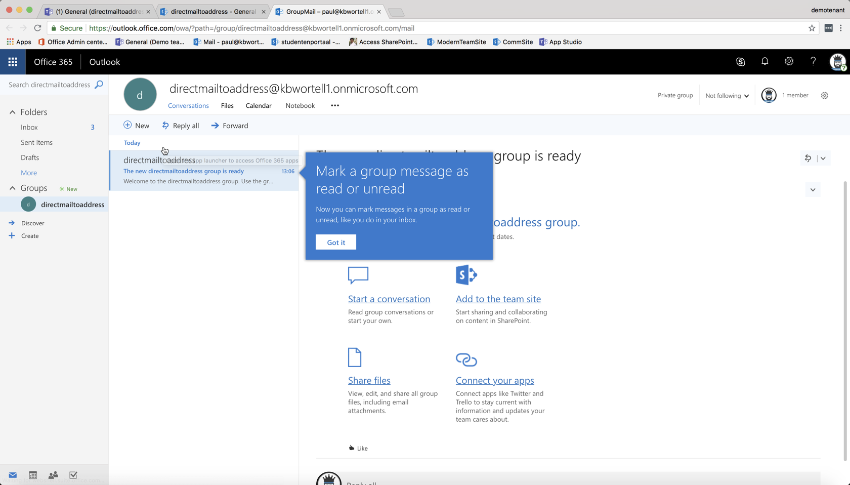 Workaround #MicrosoftTeams Mail to channel normal address