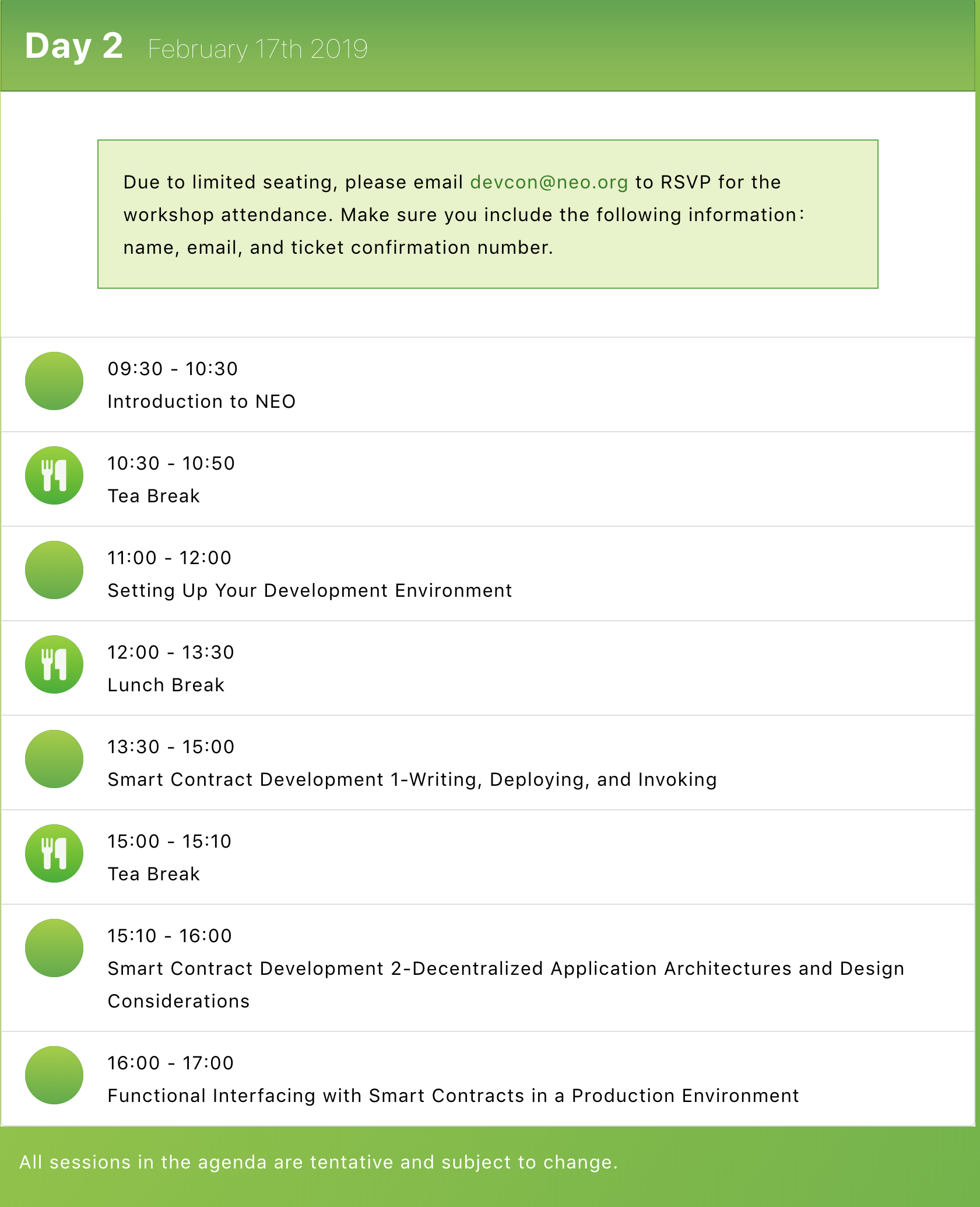 A Complete List of Guest Speakers & Agenda for NEO DevCon